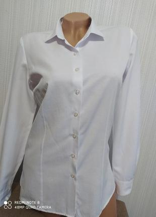 Итальянская белая базовая рубашка ovs размер м