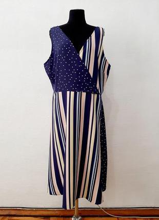 Стильное модное трендовое асимитричное платье большого размера