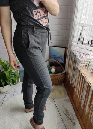 Стильные брюки джогеры fulls на высокой посадке в полоску