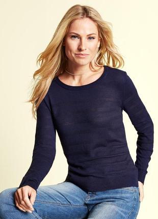 Легкий свитер пуловер подойдет на высокий рост tcm tchibo германия евро 36-38