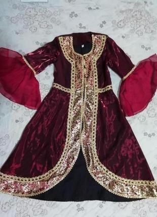 Карнавальный костюм наряд восточной, грузинской, туркменской  красавицы, на 6-8лет