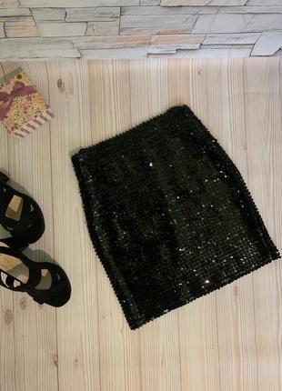Спідниця юбка в пайетках