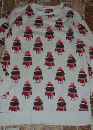 Кофта новогодняя свитшот девочке 11 - 12 лет
