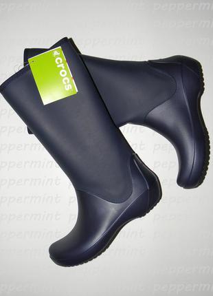 Комфортные сапожки на дождливую погоду от crocs оригинал w7