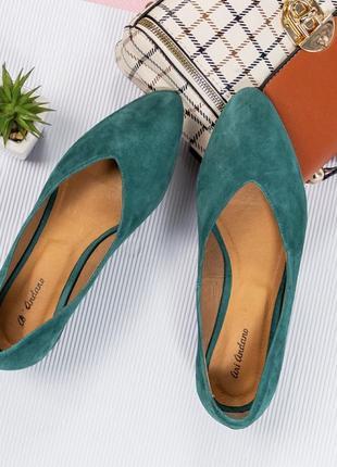 36-40 рр шикарные удобные туфельки на маленьком каблуке замшевые бирюзового цвета