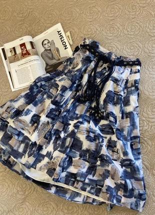 Шикарная лёгкая миди юбка с плетёным поясом gerry weber