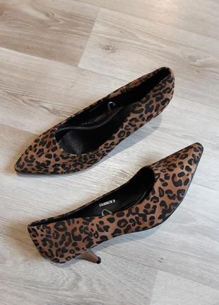 Туфли лодочки, леопардовые