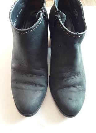 Ботинки кожаные - набук черные , темно-синие