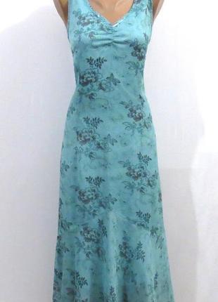 Длинный голубой сарафан от generous стройнит размер: 50-52-l-xl1 фото
