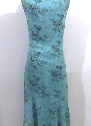 Длинный голубой сарафан от generous стройнит размер: 50-52-l-xl2 фото