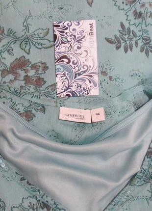 Длинный голубой сарафан от generous стройнит размер: 50-52-l-xl3 фото