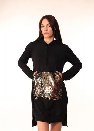 Платье худи quest wear black