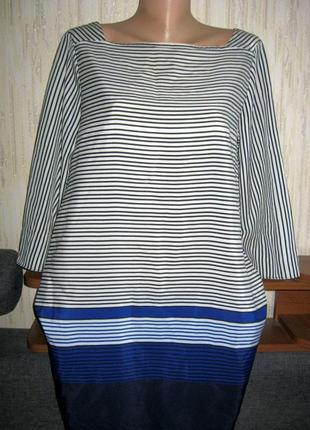Платье в полоску с карманами