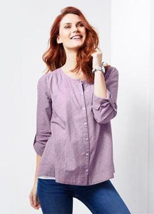 Лёгкая рубашка блуза из шамбре р.52_54наш tcm tchibo германия