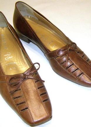 Туфли женские hassia 37р. италия, натуральная кожа