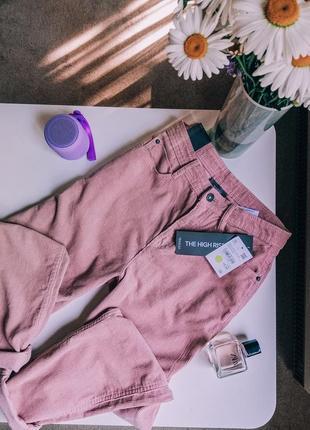 Вельветовые стильные мом штаны