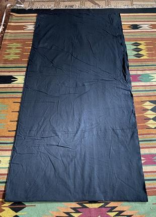 Плотная чёрная натуральная большой кусок ткани ткань производство ссср