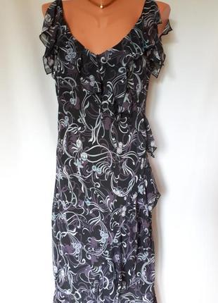 Воздушное платье-миди винтаж george (размер 14)