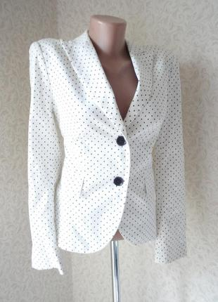 Белый пиджак zara р.12