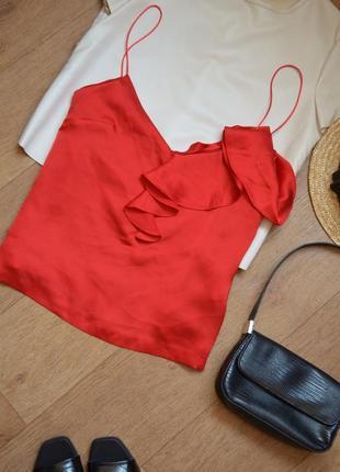 Easy wear сатиновая майка под шелк как шелковая летняя легкая яркая нежная с воланами