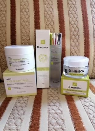 Набор для проблемной кожи c aha-кислотами от dr.hedison2 фото