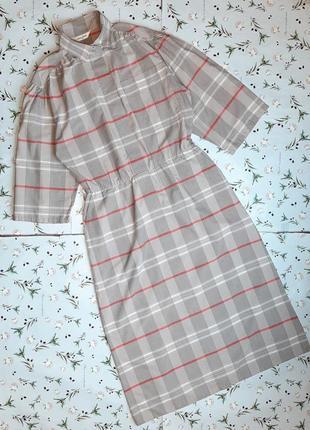 🌿1+1=3 модное длинное серое платье в пол в клетку под горло jean claire, размер 46 - 48