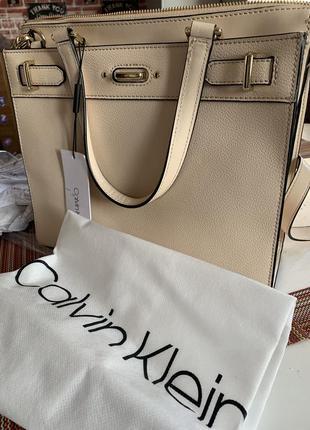 Calvin klein кожаная сумка торг