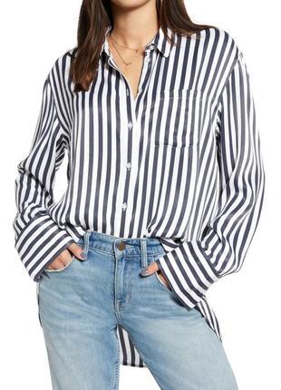 Модная полосатая рубашка свободный фасон размер с  cubus
