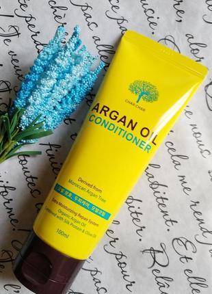 Профессиональный кондиционер для волос с аргановым маслом evas char char argan oil, 100мл