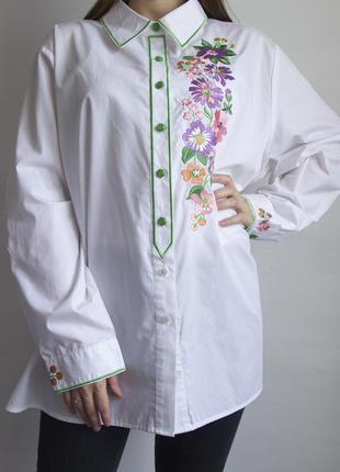 Невероятно красивая рубашка с вышивкой от дизайнера  bob mackie - wearable art2 фото