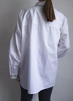 Невероятно красивая рубашка с вышивкой от дизайнера  bob mackie - wearable art5 фото