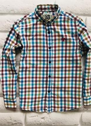Next стильная рубашка на мальчика 8 лет