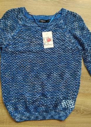 Кофточка вязаная ажурная свитерок