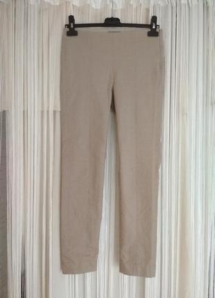 Cos бежевые брюки штаны джинсы высокая посадка скинни