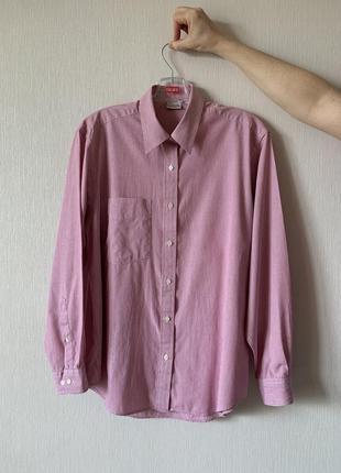Базовая полосатая розовая рубашка
