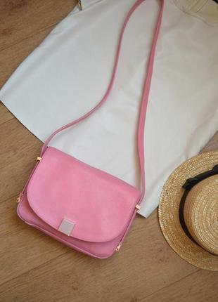 Ted baker сумка розовая через плече кожа натуральная кожаная брендовая оригинал
