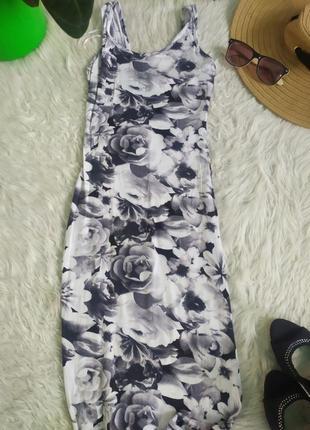 ‼️ sale ‼️трикотажное платье  длины миди по фигуре