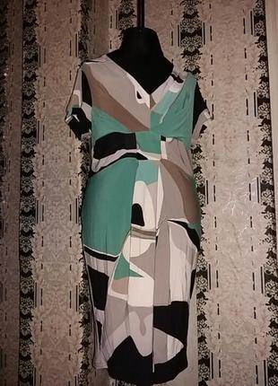 Платье сарафан бирюза armani
