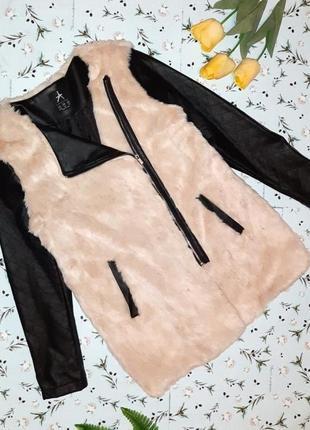 🎁1+1=3 меховая куртка с кожаными рукавами косуха atmosphere демисезон, размер 48 - 50
