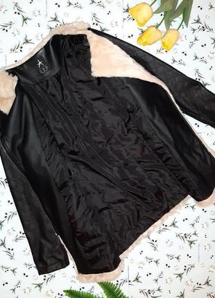 🎁1+1=3 меховая куртка с кожаными рукавами косуха atmosphere демисезон, размер 48 - 508 фото