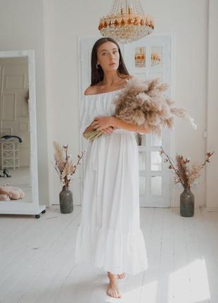 Большой выбор платьев ! шикарное белое платье с открытыми плечами