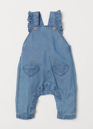 Хлопковый комбинезон под джинс для девочки h&m, р. 104 (3-4 года)