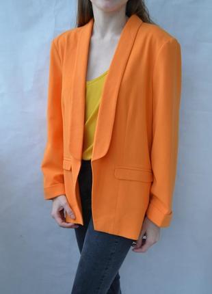Жакет пиджак🌟!!! яркий оранжевый miss selfridge піджак яскравий жакет літній