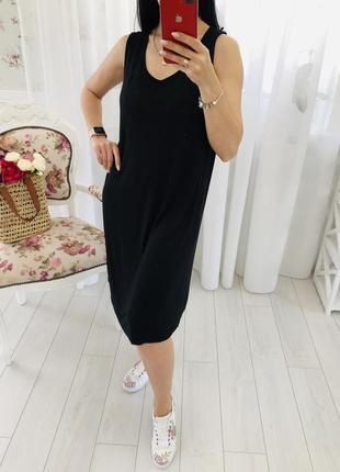 Базовое черное платье чехол сарафан sara lindholm