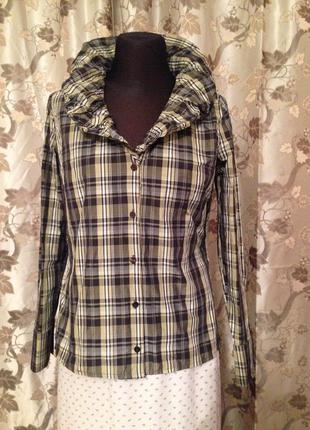 Блуза эксклюзивная рубашка с шикарным воротником