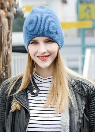 Класна синя шапка , шапочка від quality garment lc waikki