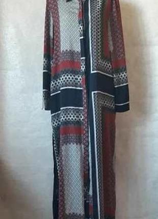 Фирменное missguided платье-рубашка/длинное платье/туника в орнамент, размер с-м