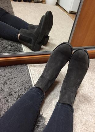 Paul green челси ботинки натуральная замша