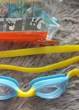 Оригинал.новые,детские,фирменные очки-стекляшкм-шведки для плавания malmsten