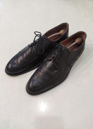 S.oliver черные кожаные туфли на шнурках